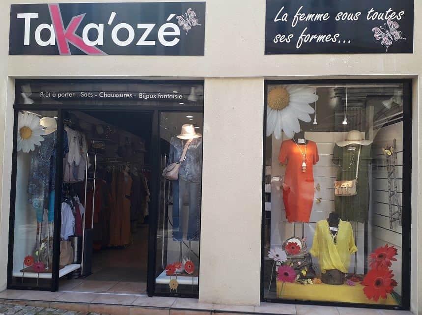 Boutique Taka'Ozé Vitrine Boutique Mode Grande Taille